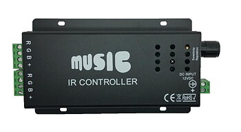 Music Controller RGB (12V 90W / 24V 180W), inkl IR fjärrkontroll.