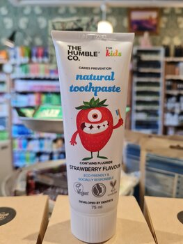 Natural Toothpaste – Barn Jordgubbe med flour The Humble Co.