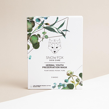 Sheet Mask Herbal Youth Preservation 5-pack Snow Fox
