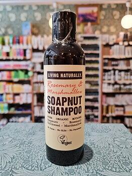 Rosemary & Marshmallow Soapnut Shampo 200ml Living Naturally