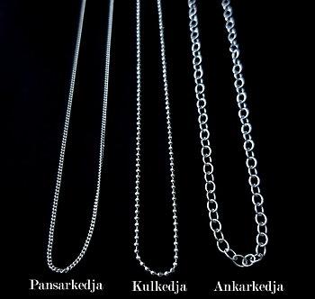 Hänge eller halsband, Dubbel kvinnosymbol - Sterling silver 925