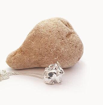 Kanin - Silver 925, Halsband / hänge