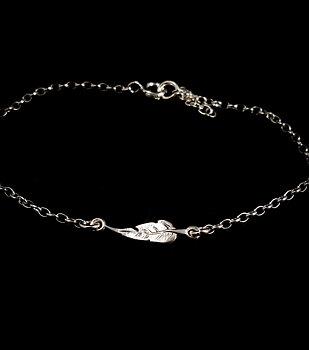 Armband med fjäder - Sterling silver 925