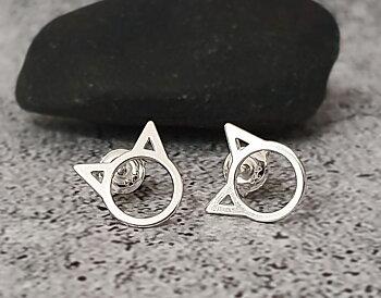 Örhängen katt - silver 925