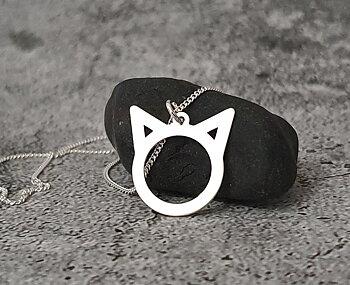 Katt - Silver 925, Halsband / hänge