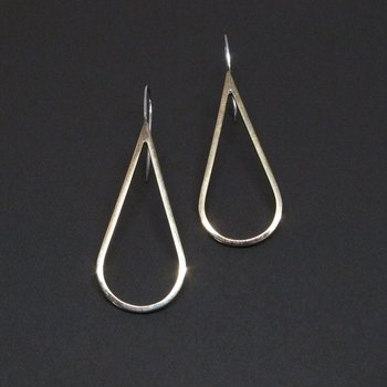 H2O earring - polished brass