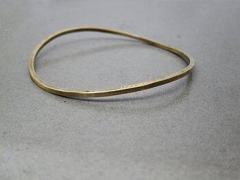 WAVE - brass bangle