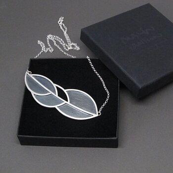 LEAFY halsband - silver