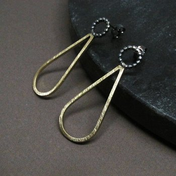 H2O SNOW BALL - earring - silver/brass