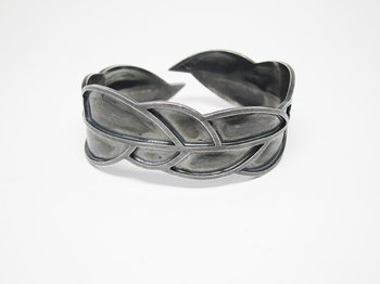 LEAFY armband - one-of-a-kind, ox silver