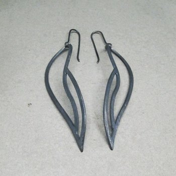 LEAFY earrings - ox silver