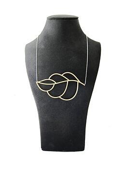 LEAFY - brass necklace