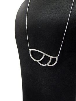 LEAFY - halsband silver