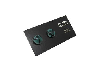 DOT earring - Peacock/black
