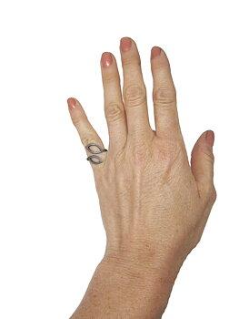 LEAFY ox silver ring