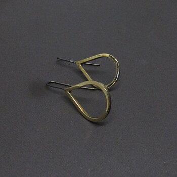 H2O Earrings - polished brass