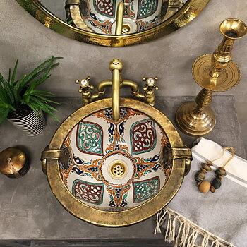 Kasbah FEZ- marockanskt keramikhandfat med metall