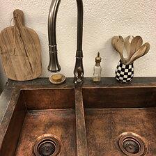 koppar blandare badrum