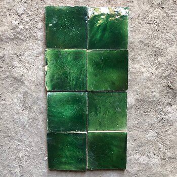 UNICOLOUR-GLAZED TILES- unique deep green
