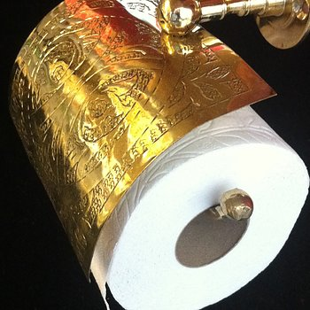TOILET HOLDER BRASS-engraved