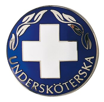 Vårdbrosch 121 UNDERSKÖTERSKA SILVER
