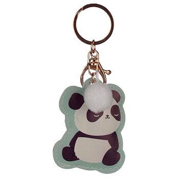 Nyckelring Konstläder Panda