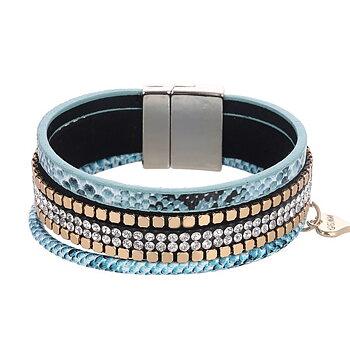 GEMINI Armband Ljusblått Magnet