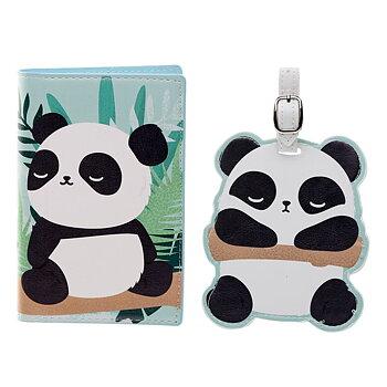 Passfodral & Bagagetag Set Panda
