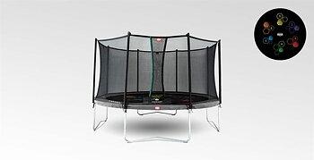 Studsmatta BERG Favorit  Grey 430 LEVELS + skyddsnät Comfort