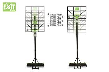 EXIT basketkorg Comet, portabel höjdjusterbar basketställning