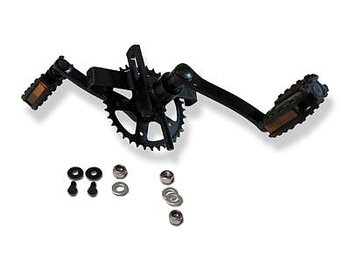 BERG XL FRAME - CRANK SHAFT WITH CRANK SET 140, 36T + PEDALS