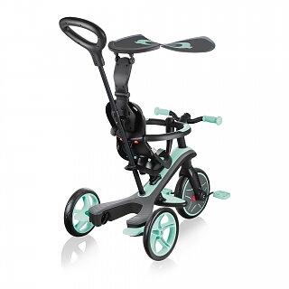 GLOBBER Explorer 4in1 Trehjuling&balancykel Teal