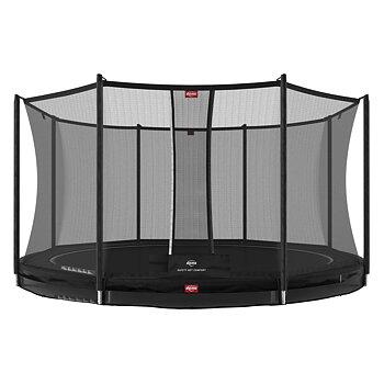 Studsmatta BERG InGround Favorit Svart 430 + skyddsnät Comfort