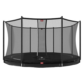 Studsmatta BERG InGround Favorit Svart 380 + skyddsnät Comfort
