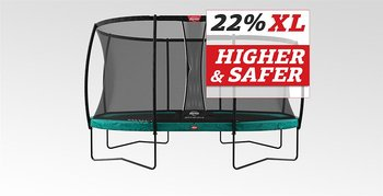 Studsmatta BERG Grand Champion 520x345 oval Green Airflow + skyddsnät DLX XL