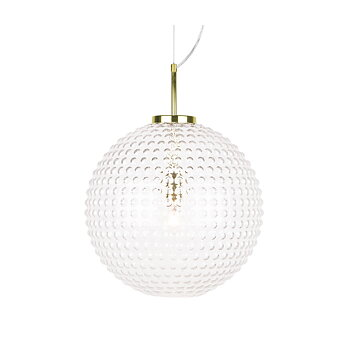 Klotlampa tak bubbligt glas Globen Lightning