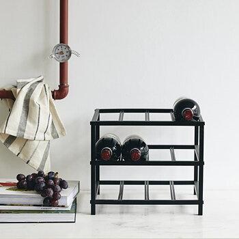 Vinställ svart metall LORENZO S Nordal