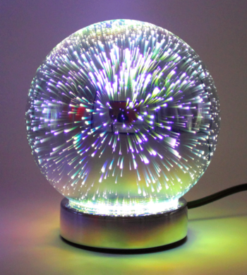 "Table lamp ""Silver galaxy"""