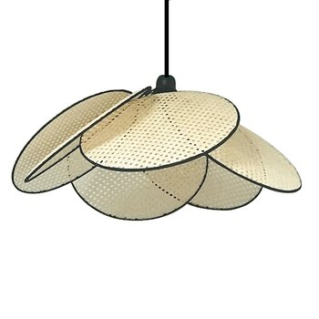 Petal lamp in rattan Large