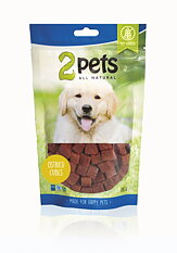 2pets Dogsnack Ostrich/Struts Cubes, 100 g