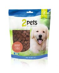 2pets Dogsnack Rabbit Cubes, 400 g