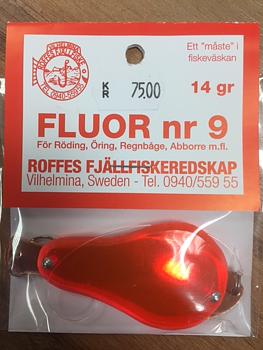Fluor nr9 Koppar/Röd plexi