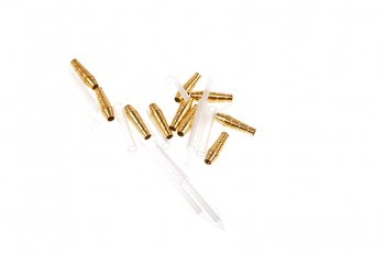 Micro Teardrop Tube Gold 10x3mm