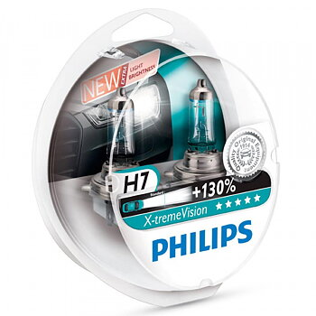2-Pack Philips H7 X-tremeVision +130%