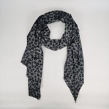 Cashmere - sjal - Leo Grey-Blue