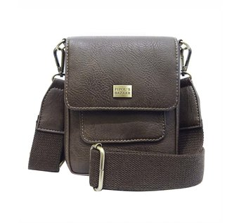 Saddle Cross Bag -  BROWN