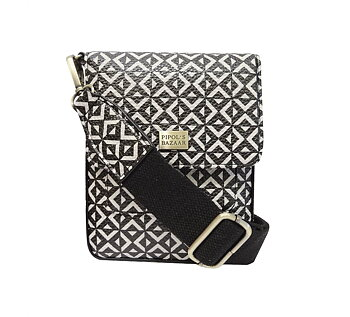 Saddle Cross Bag - Square B&W