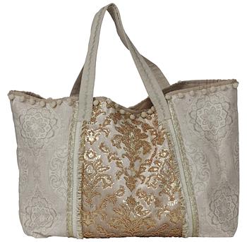 Väska Sara- guld-grå
