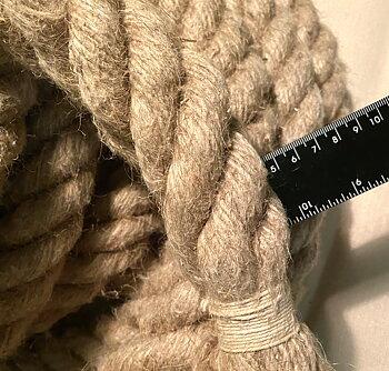 12 meter Hamparep, obehandlat 40mm diameter