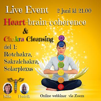 INSPELAT Live Event Heart - Brain - Coherence & Chakra Cleansing DEL 1 av 2